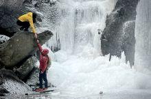 莫干山剑池 百年难遇冰川