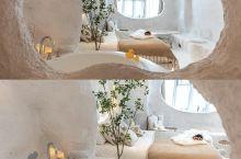 小圣托里尼 🍃网红浴缸拍照绝美❗️  宜昌民宿的颜值巅峰啊❗️ 一秒穿越圣托里尼就靠这间民宿了❗️