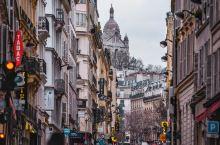 【路线攻略】 Photo:蒙马特高地圣心大教堂下方街道  Photo:住酒店一定要去楼顶看看,指不定