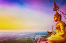 甲米府最出名中泰结合寺庙,全景日出观看地