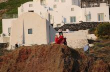 圣托里尼随处可见的旅拍游客