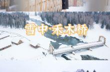 上帝视角的百年禾木桥与浪漫的白桦林