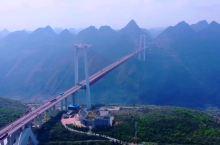 坝陵河大桥,高山之间,深谷之上,云里彩虹。