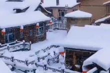 冬天童话里的雪屋雪乡