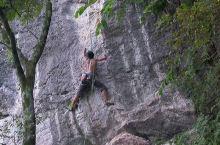 杭州临安狮头岩野攀
