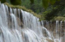 诺日朗瀑布,海拔2365m,高24.5m,瀑宽320m,是九寨沟最大的钙化瀑布!
