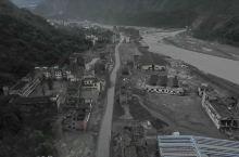 北川地震遗址航拍