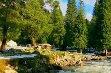 琼库什台村边的小河