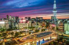 名古屋的市中心灯火