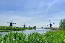 荷蘭鹿特丹小孩堤防風車村