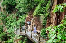 出了大瀑布景区,中饭后进入琼台仙谷一路下山