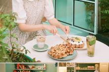 首尔探店简约韩式薄荷绿下午茶