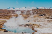西藏·阿里 玛旁雍错旁的野温泉