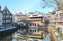 法国斯特拉斯堡冬日雪景