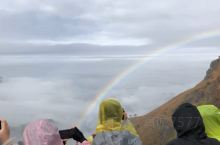武功山顶看彩虹