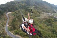 来安徽宏村体验滑翔伞飞行,享受飞翔感觉