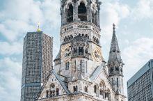 【德国·柏林】闹市区里威廉皇帝教堂的伤痕