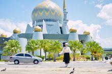 亚庇独特风格的清真寺,非常适合拍照!