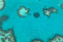 空中俯瞰大堡礁最美心型岛
