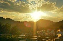 民宿必打卡 高处庭院露台观赏山景日落