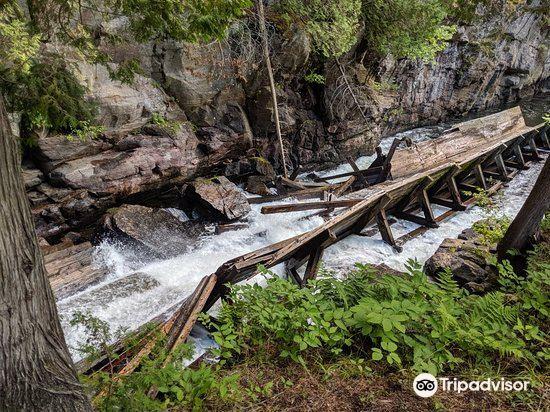 Hawk Lake Log Chute1