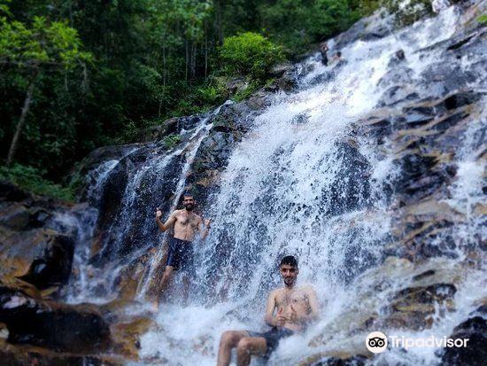甘清雨林瀑布3