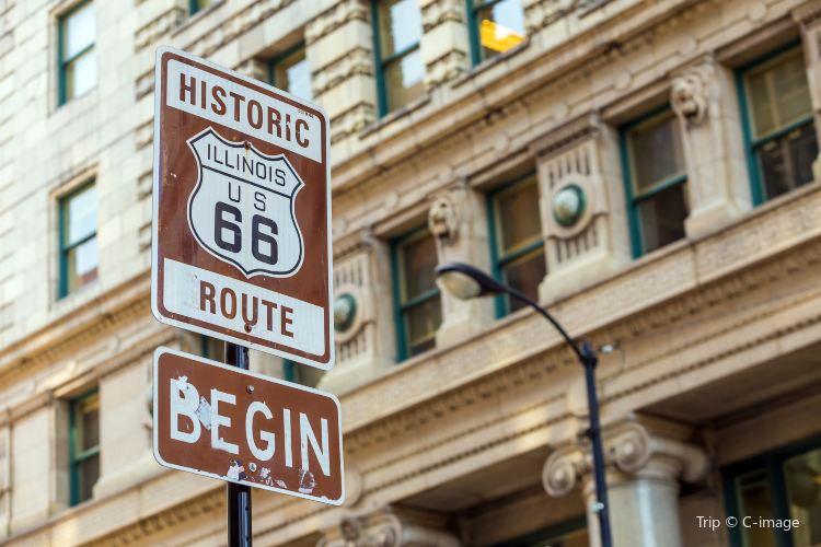 Historic Rt 66 Begin Sign1