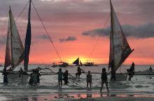 【菲律宾🇵🇭】长滩岛美丽的日落🌄