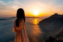 圣托里尼绝美日落