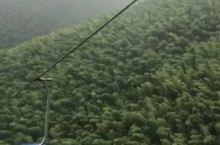 南山竹海高空缆车的雨季天凉感