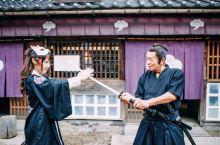 在日光江户村,穿越回到江户时代和忍者过招儿