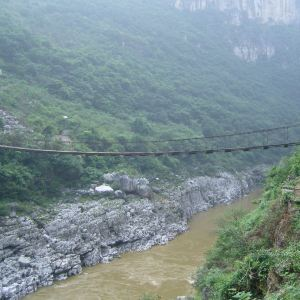 花江铁索桥旅游景点攻略图