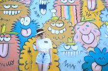 街拍可爱的涂鸦墙