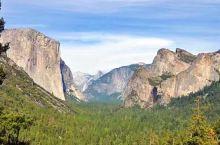 优胜美地国家公园,又称约瑟米蒂。独特的呈V型山谷