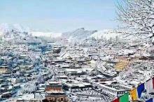 #美食林#雪后的塔尔寺