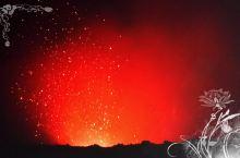 活火山口看喷发