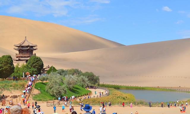 你在城里堵车,我在敦煌堵骆驼 移师敦煌--我的陕甘青亲子自由行之三