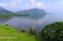 航拍欧胡岛的山山水水