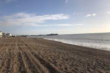 英國佈萊頓鵝卵石海灘