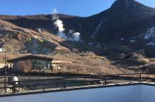 大涌谷。活火山口。值得一去的地方远眺望富士山