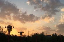 内蒙乌拉特中旗的落日