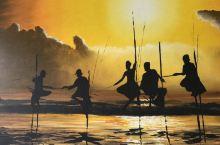 高跷渔夫:斯里兰卡的传统打渔方式,也是当地特色