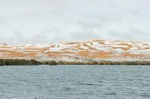 今天的腾格里,美爆了,沙漠雪
