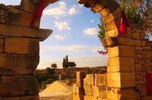 多彩摩洛哥9—夕阳下的红色古罗马遗址