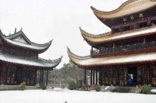 雪地里的岳阳楼
