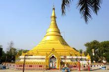 """金壁辉煌的""""缅甸金佛寺"""",它脱胎于缅甸仰光大金塔。"""