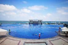 长江入海口的碧海银沙