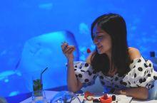 与鱼儿共餐,特别的蓝色海底餐厅