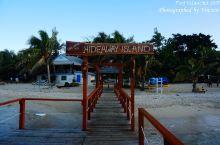 远处的Hideaway Island,感觉水不深,路也不远,不知道可不可以游泳过去咧,哈哈  回程时