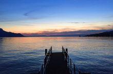 莱芒湖区的夕阳